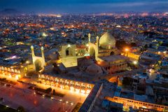 Quadrado de Naqsh-e Jahan em Isfahan, Irã, Januray recolhido 2019 hdr recolhidos imagem de stock royalty free