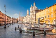 Quadrado de Navona, Roma, Itália fotos de stock