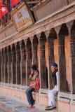 Quadrado de Nepal Kathmandu Durbar de Bhaktapur fotografia de stock royalty free