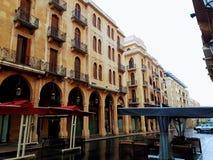 Quadrado de Nijmeh em Beirute - Líbano fotografia de stock