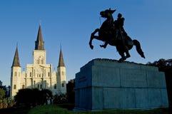 Quadrado de Nova Orleães Jackson, catedral de St Louis Foto de Stock Royalty Free