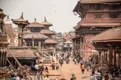 Quadrado de Patan Durbar em Kathmandu, Nepal Imagem de Stock