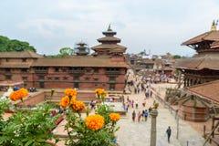 Quadrado de Patan Durbar, Nepal fotografia de stock