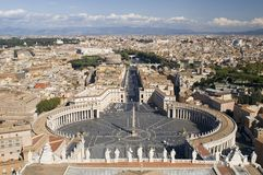 Quadrado de Peter de Saint de Vatican Fotos de Stock Royalty Free