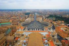 Quadrado de Peter de Saint em Roma, imagem de stock royalty free