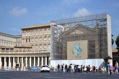 Quadrado de Peter de Saint em Vatican Fotos de Stock Royalty Free