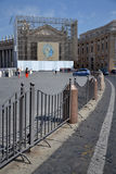 Quadrado de Peter de Saint em Vatican Fotografia de Stock Royalty Free