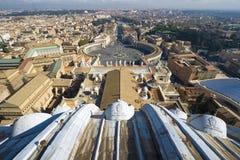 Quadrado de Peter de Saint. Roma. Vatican Imagem de Stock Royalty Free