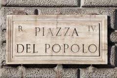 Quadrado de Popolo em Roma foto de stock