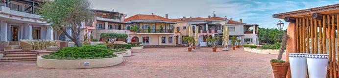 Quadrado de Porto Cervo fotografia de stock royalty free
