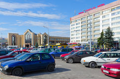 Quadrado de Privokzalnaya, Gomel, Bielorrússia Fotos de Stock