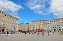 Quadrado de Residenzplatz em Salzburg, Áustria. Foto de Stock Royalty Free