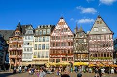 Quadrado de Romerberg em Francoforte Imagem de Stock