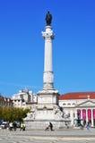 Quadrado de Rossio em Lisboa, Portugal Fotos de Stock Royalty Free