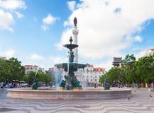 Quadrado de Rossio, Lisboa Fotografia de Stock Royalty Free