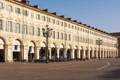 Quadrado de San Carlo, Turin Imagens de Stock