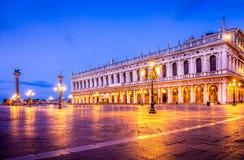 Quadrado de San Marco na manhã Foto de Stock Royalty Free