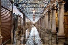 Quadrado de San Marco na noite - Itália imagens de stock