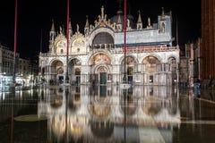 Quadrado de San Marco na noite - Itália foto de stock royalty free