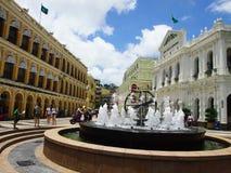 Quadrado de Senado, Macau, a República da China Imagem de Stock