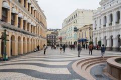 Quadrado de Senado - o centro histórico de Macau Fotos de Stock Royalty Free