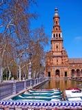Quadrado de Spain em Sevilha andalusia spain foto de stock royalty free