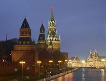 Quadrado de Spasskaya Tower Imagens de Stock Royalty Free