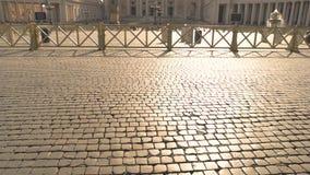 Quadrado de St Peter, Roma video estoque