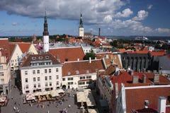 Quadrado de Tallinn Fotos de Stock Royalty Free