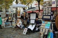 Quadrado de Tertre paris Fotografia de Stock