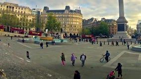 Quadrado de Trafalgar em Londres video estoque