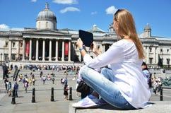 Quadrado de Trafalgar em Londres imagem de stock