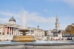 Quadrado de Trafalgar em Londres, Inglaterra Imagens de Stock Royalty Free