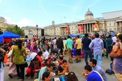 Quadrado de Trafalgar Londres do festival de Krishna imagem de stock