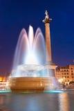 Quadrado de Trafalgar, Londres, Reino Unido. imagens de stock royalty free