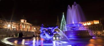 Quadrado de Trafalgar no Natal Imagens de Stock Royalty Free