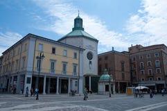 Quadrado de Tre Martiri em rimini na região de Emilia Romagna, Italia Foto de Stock Royalty Free