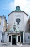 Quadrado de Tre Martiri em rimini na região de Emilia Romagna, Italia Imagem de Stock Royalty Free