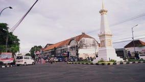 Quadrado de Tugu Yogyakarta na noite filme