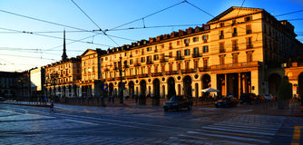 Quadrado de Turin Foto de Stock Royalty Free