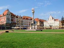 Quadrado de Unirii, Timisoara, Romania Fotos de Stock Royalty Free