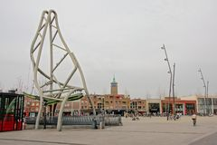 Quadrado de Van Heek, Enschede, os Países Baixos imagens de stock royalty free