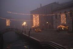 Quadrado de Veneza no tempo do Natal imagens de stock
