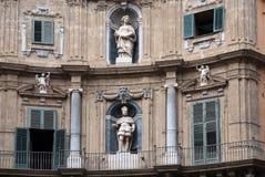 Quadrado de Vigliena, Palermo Fotografia de Stock