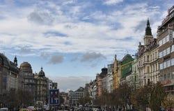 Quadrado de Wenceslas em Praga Fotos de Stock Royalty Free