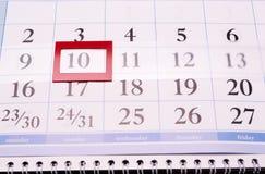 Quadrado do calendário Foto de Stock Royalty Free