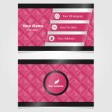 Quadrado do cartão da identificação do negócio Imagens de Stock Royalty Free