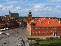 Quadrado do castelo em Varsóvia Foto de Stock Royalty Free