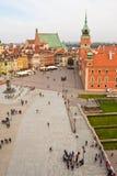 Quadrado do castelo em Varsóvia, Poland Foto de Stock Royalty Free