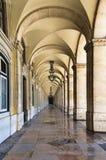 Quadrado do comércio em Lisboa, imagens de stock